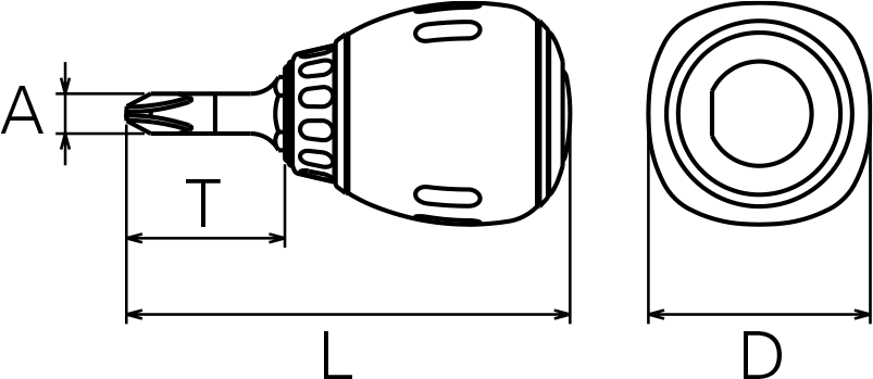 Nepros ND1PS Technical Drawing